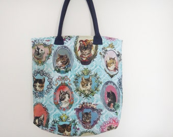 Cat tote bag / shopping bag