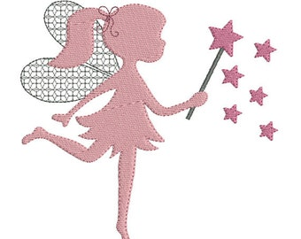Instant download princess fairy embroidery design machine