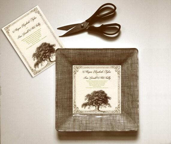 Rustic Weddings Gift Idea Wedding Invitation Plate