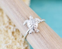Turtle Ring, Sterling Silver Turtle, Silver Sea Turtle Jewelry, Silver Sea Turtle, Animal Ring, Turtle Silver Ring