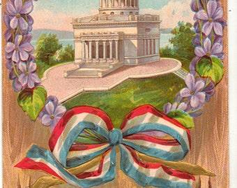 Vintage Postcard, Decoration Day Postcard, General Grant's Tomb, Wreath, ca 1910