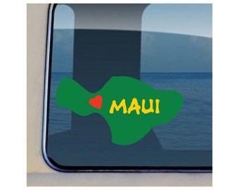 Maui Island Reggae Decal Hawaiian Love Maui Sticker - 219