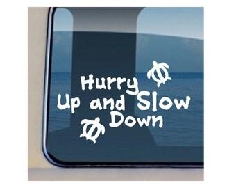 Turtle Decal Slow Down Hawaiian Petroglyph Car Sticker 139