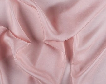 """45"""" Wide 100% Silk Crepe de Chine Blush Pink by the yard"""