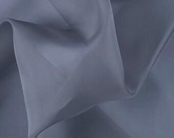 "45"" Wide 100% Silk Organza Gray by the yard"