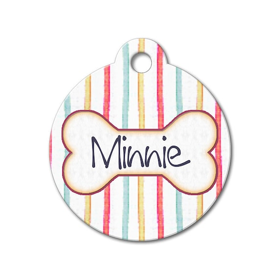 Colorful Stripes - Dog ID Tags, Cat ID Tag, Dog Tags for Dogs, Designer Pet Tags, Personalized Pet Tags, Custom Pet Tags- Pattern Pet Tags