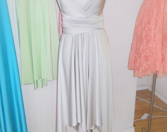 The ONE Dress multi wrap infinity wear hanky hem convertible bridesmaids dress wear me again wedding  gown