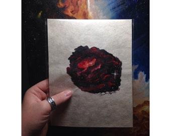 Where Stars Are Born: Rosette Nebula Painting on Paper