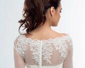 Ava Lace Wedding Bolero, Bridal Jacket