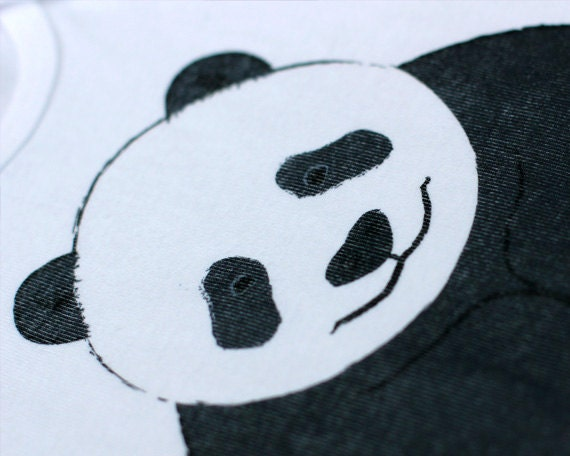 Unisex Baby Clothes Panda Bear Onesie By Grizzlybeargreetings