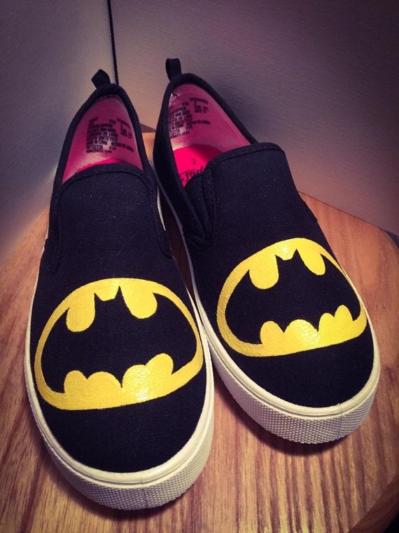 batman symbol slip on shoes s kid s sizes