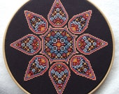 Desert Gypsy Mandala Cross Stitch PDF Chart Pattern Instant Download Free Pattern Included  Whole Stitches Only and Beading Geometric