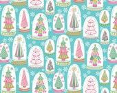 Blend Fabrics - Vintage Noel - Snowglobe Forest - Blue