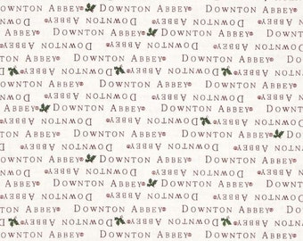 SALE - Andover - Downton Abbey Christmas by Kath Hall - Christmas Text - Red