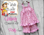 Maisy...Girl's Dresses. Baby Dress Sewing Pattern. Girl's Dress Pattern pdf. Girl's Top Sewing Pattern. Babies pdf Sewing Patterns. Infants