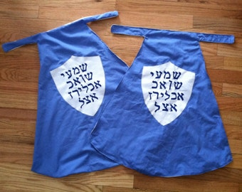 Superhero cape: The Shema Hebrew prayer super hero cape