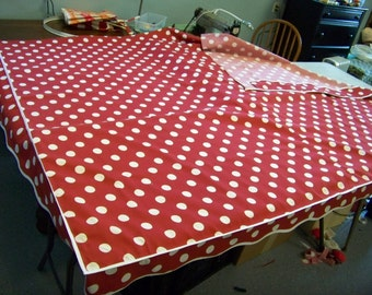 VINTAGE Camper Awning   8' x7' DOUBLE VALANCE