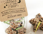 12 Baby shower favors, bird seed star favors, set of 12 bird seed stars twinkle twinkle little star
