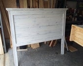 Queen White Distressed HB