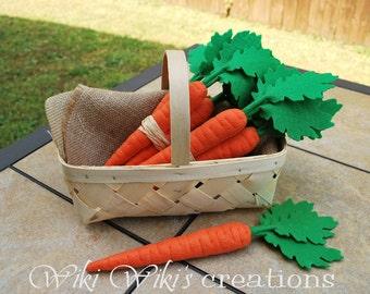 Felt Food Carrot