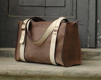 handmade bag woman leather bag  Lili  art brown