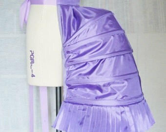 Purple Structured Hooped Bustle in Satin Fabric - Undergarment - Underpinning - Lingerie