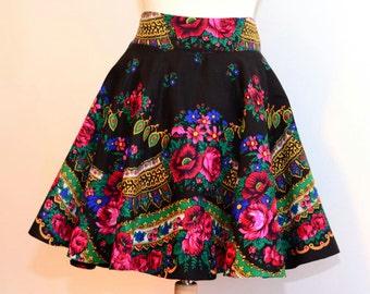 Gypsy Skirt Flower Skirt Bohemian Gipsy Skirt Boho Flower Skirt Hippie skirt OOAK Skirt