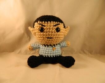 Star Trek Mr. Spock Fathead Amigurumi Plush Doll for Trekkies!