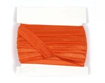 5/8th inch Silicone Backed Elastic - 5 yards -  Orange