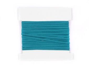 Elastic, 1/8th inch flat elastic for DIY Making Baby Headbands, skinny elastic - 5, 10, or 20 yard bundles - TEAL