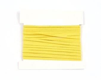 Elastic, 1/8th inch flat elastic for DIY Making Baby Headbands, skinny elastic - 5, 10, or 20 yard bundles - YELLOW