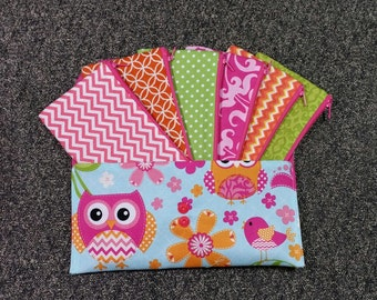 Envelope System, Cash Envelope Wallet, Pouch and 5 to 15 Envelopes -Owl Chevron (It can be used with the Dave Ramsey system)