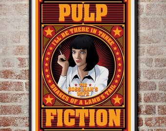 Pulp Fiction: The Boss Man's Wife Mia Wallace Movie Poster