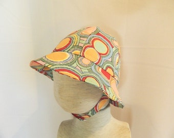 Colorful Cotton Polka Dot Sun Hat - Infant to Toddler to Preschool