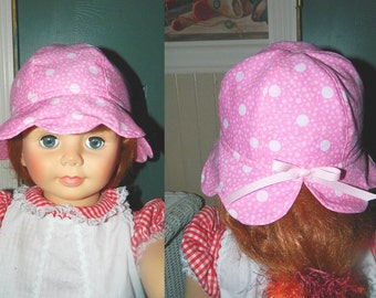 Girl's Cotton Pink Sun Hat - Infant to Toddler - Preschool