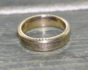 XX century last year coin ring. 50 eurocents 1999. Size 9