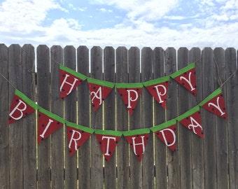 WATERMELON BIRTHDAY PARTY, Watermelon Banner, Summer Birthday Party, Watermelon Party, Summer Banner, Birthday Banner, Party Decorations