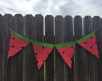 Watermelon Flag Banner / Bunting