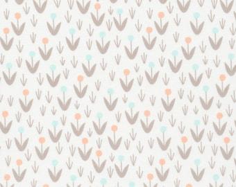 Morning Song - Dotty Blooms in Ivory - 129700 - Elizabeth Olwen - 1/2 yard