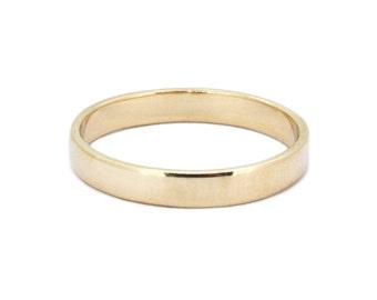 The Modern Wedding Ring - Handmade Gold Flat Wedding Band