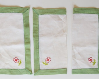 Vintage Napkins with Flowers