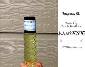 MANIFESTO Type Fragrance Body Oil (Inspired by Isabella Rossellini's Perfume) 1/3, 1/2, or 1 ounce (oz)
