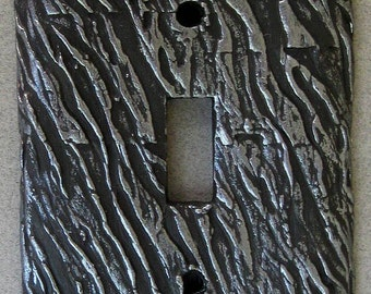 Wild Zebra Print Single Toggle Switchplate Lightplate