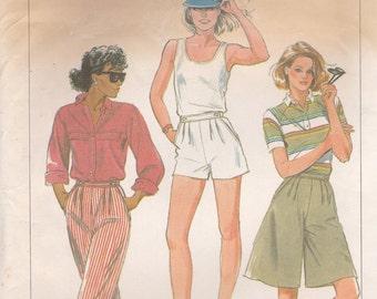 Shorts, Pants and Culottes Pattern Simplicity 6953 Size 12 Uncut