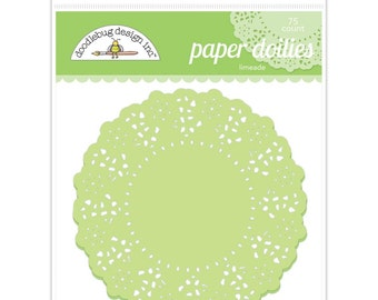 Limeade Green Paper Doilies 4.5 Inch Set of 75 by Doodlebug Designs