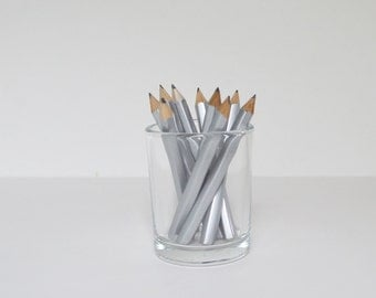 Mini Pencils Stationary Silver Pencils Game Pencils Party Pencils Wedding Pencils