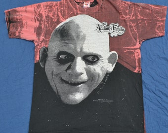 Vintage Uncle Fester The Addams Family Shirt 1991 L T-Shirt Tee Shirt Goth Munsters Adams