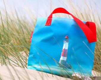 Large Waterproof Beach Bag Vintage Lighthouse