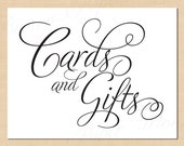 Cards and Gifts Printable Simply Elegant Signs: 11 x 8.5 - Instant Download