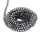 5 YARDS of Black Shiny Chains Links Trim for Crafts